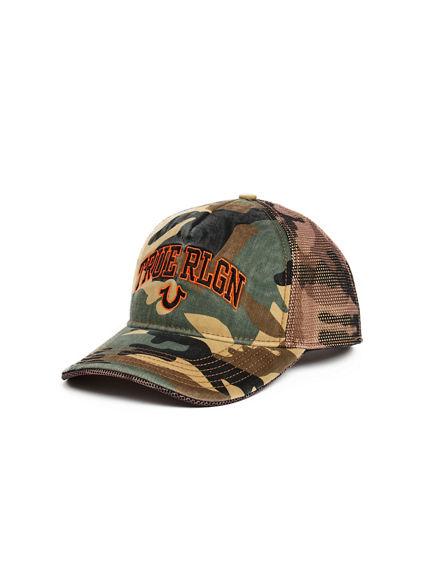 ARCHED LOGO CAMO CAP