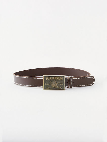 LEATHER BIG T BUDDHA BELT
