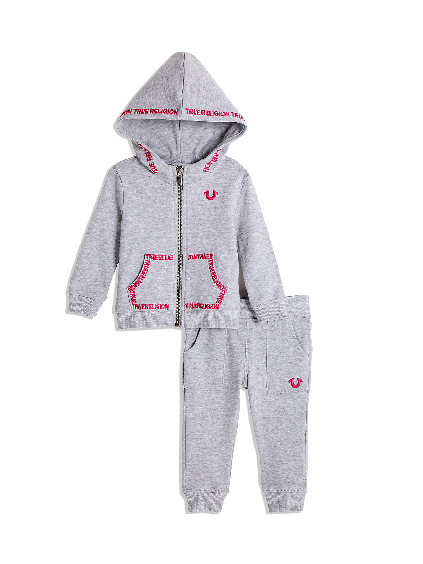 f991e43be BABY GIRL EMBROIDERED HOODIE SET
