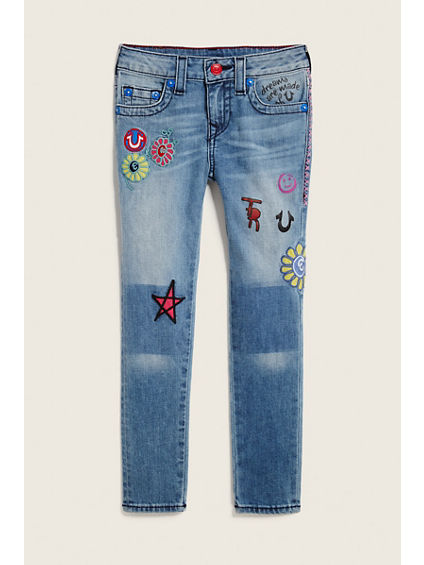 TODDLER/LITTLE KIDS CASEY PATCHED JEAN