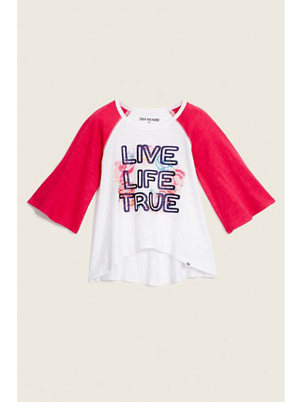 TODDLER/LITTLE KIDS DRAPE BASEBALL TEE