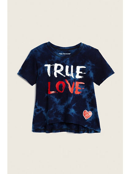 TODDLER/LITTLE KIDS TRUE LOVE DRAPE TEE