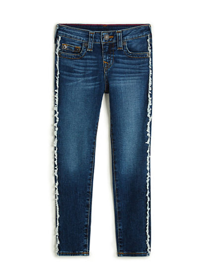 TODDLER/LITTLE KIDS FRINGE CASEY SUPER SKINNY JEAN