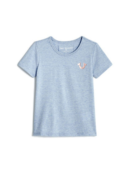TODDLER/LITTLE KIDS CRAFTED WITH PRIDE HEATHERED TEE