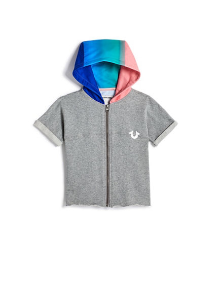 GIRLS RAINBOW PANEL HOODIE