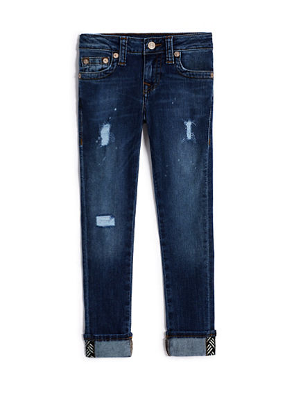 GIRLS DESTRUCTED HALLE SKINNY JEAN