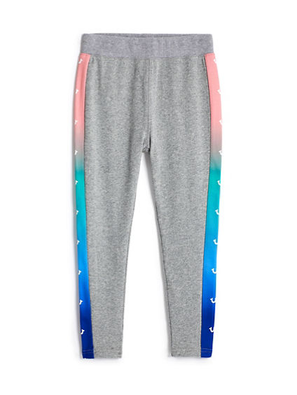 GIRLS RAINBOW PANEL SWEATPANT