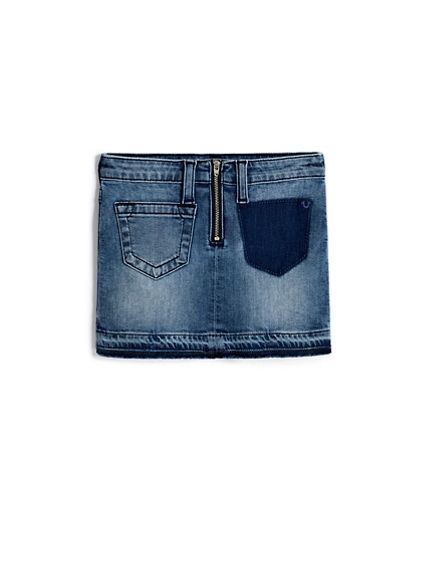 GIRLS RELEASED HEM JEAN SKIRT