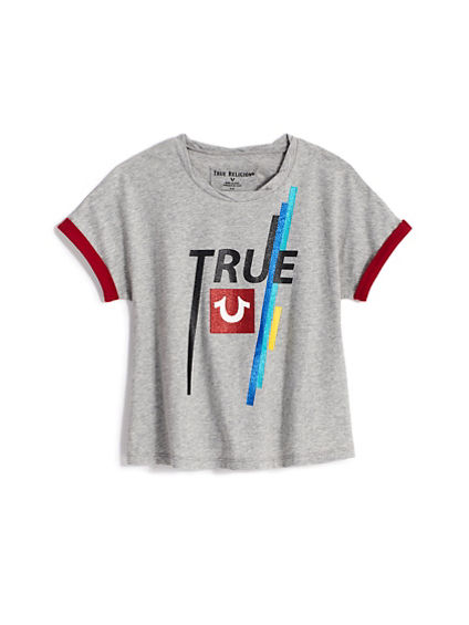 GIRLS TRUE ROLLED TEE