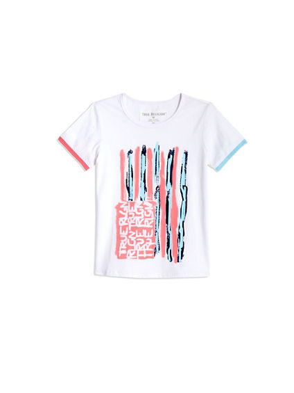 TODDLER/LITTLE KIDS PAINTED FLAG TEE