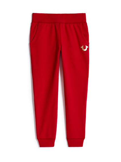 GIRLS METALLIC HORSESHOE SWEAT PANT