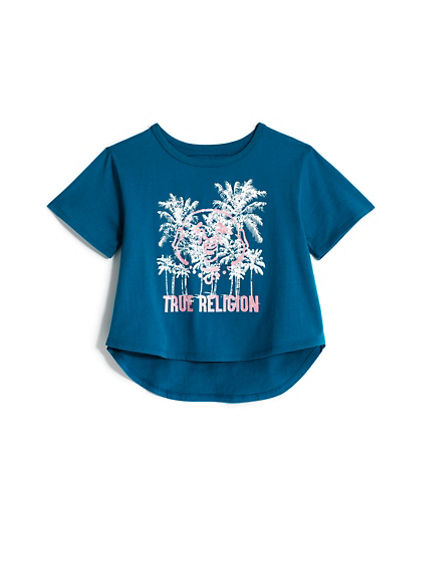 GIRLS HI-LO PALM TEE