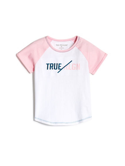 GIRLS EMBROIDERED RAGLAN TEE