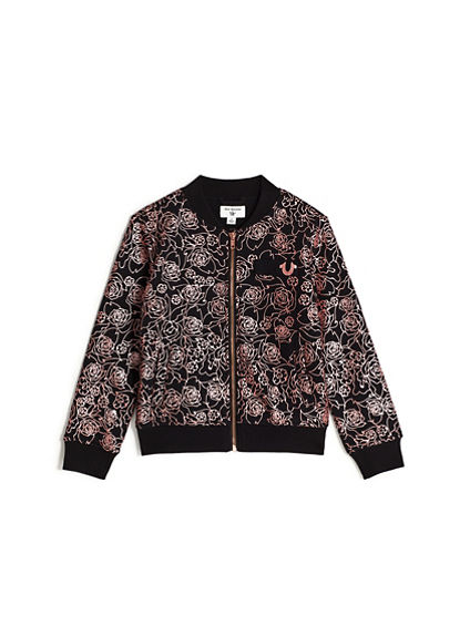 GIRLS ROSE BOMBER JACKET