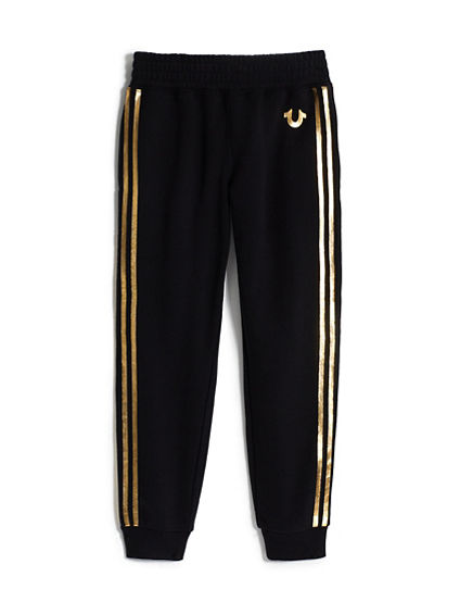 GIRLS ATHLETIC STRIPE JOGGER