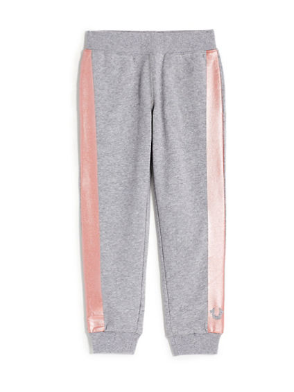 GIRLS METALLIC STRIPE SWEATPANT