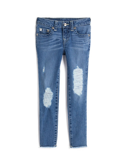 GIRLS HALLE JEANS W RIPS