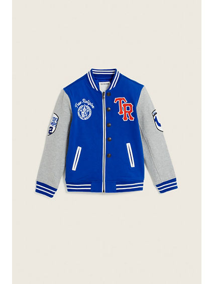 TODDLER/LITTLE KIDS LETTERMAN JACKET