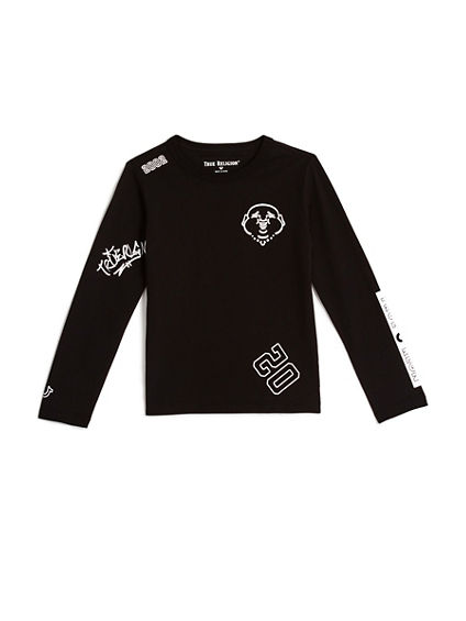 TODDLER/LITTLE KIDS TAGGED GRAPHIC LONG SLEEVE SHIRT