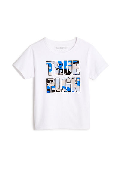 TODDLER/LITTLE KIDS CAMO GRAPHIC LOGO TEE