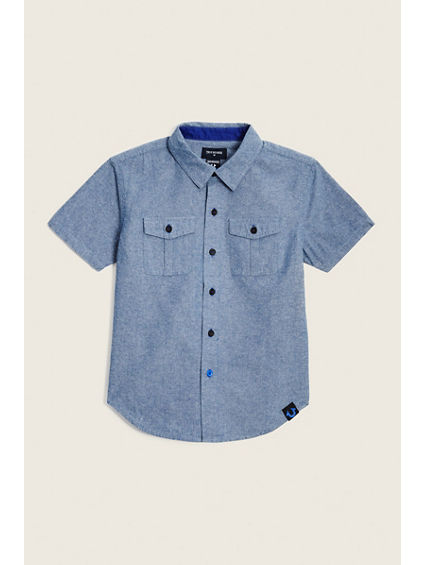 02 AMERICAN TODDLER/LITTLE KIDS WOVEN SHIRT