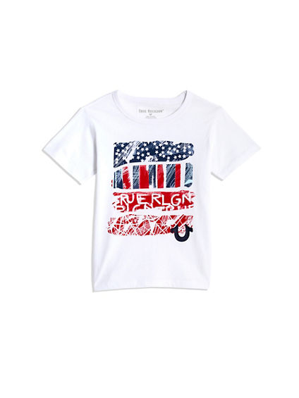 TODDLER/LITTLE KIDS PAINTED AMERICAN TEE