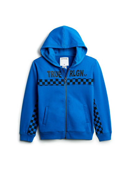 BOYS CHECKERED HOODIE