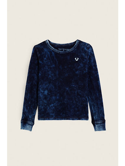 INDIGO LONG SLEEVE TODDLER/LITTLE KIDS TEE