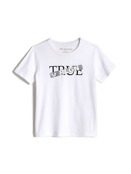 BOYS TAPED LOGO TEE