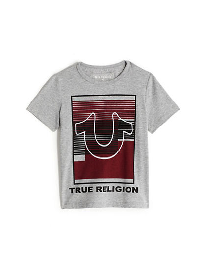 BOYS STRIPE LOGO TEE