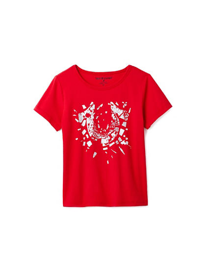 TODDLER/LITTLE KIDS SHATTER HORSESHOE GRAPHIC TEE