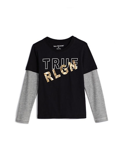 LONG SLEEVE FOIL TEE