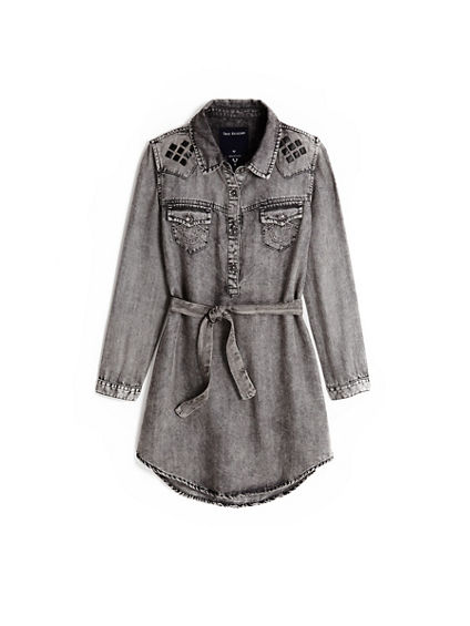 STUD WESTERN KIDS DRESS
