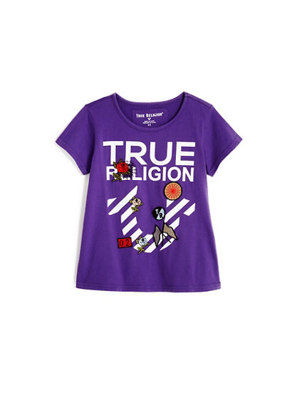 STRIPE HORSESHOE KIDS TEE