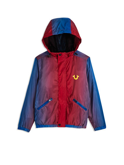 BIG KIDS ZIP FRONT NYLON JACKET