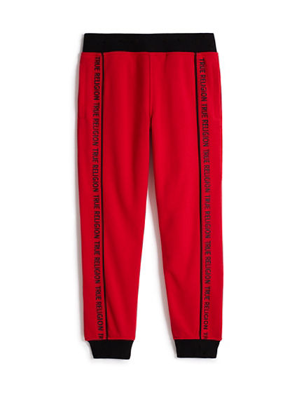 BOYS BRAND STRIPE SWEATPANT