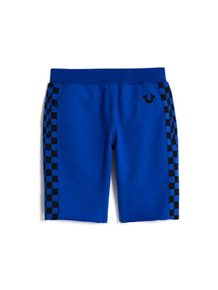 BOYS CHECKERED SWEATSHORT