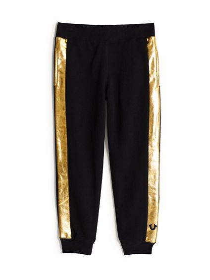 BOYS METALLIC STRIPE SWEATPANT