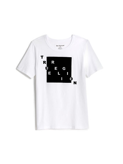 FLOCKED SQUARE KNOCKOUT TEE