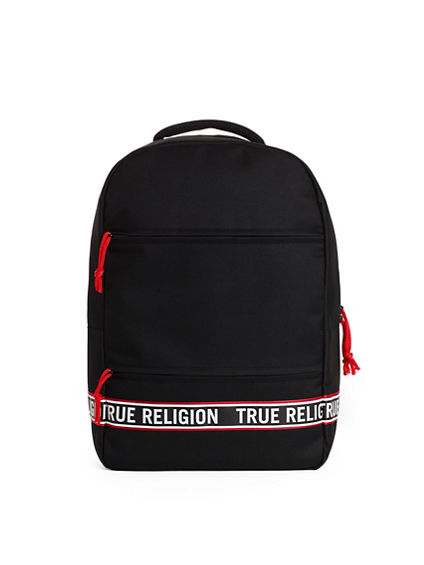 MENS BLACK RED TAPE BACKPACK