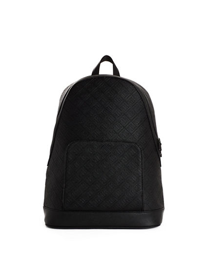 MENS TR EMBOSSED LEATHER BACKPACK