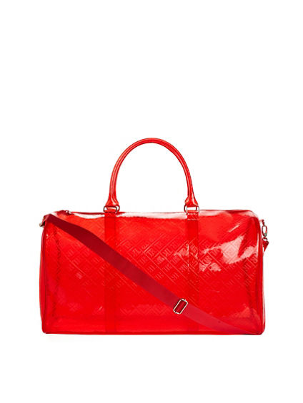 LARGE EMBOSSED DUFFLE BAG