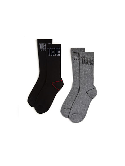MENS TRUE RLGN 2 PK CREW SOCK