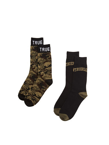 MENS CAMO SOCKS - 2 PK