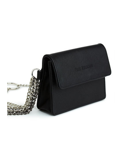 FAUX LEATHER CHAIN FANNY PACK