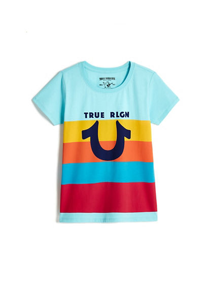 BIG KIDS COLOR STRIPE TEE