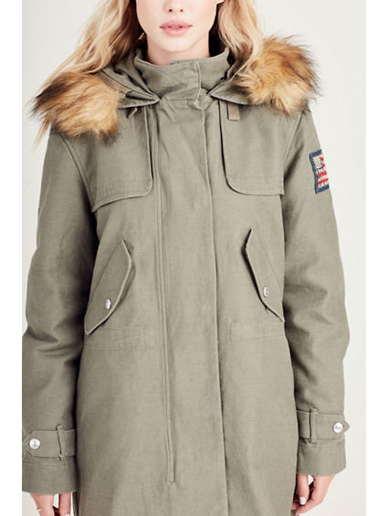 Sale Purchase Outlet Authentic Womens Olive Parka True Religion Sale New Arrival Buy Cheap Huge Surprise 0esdib