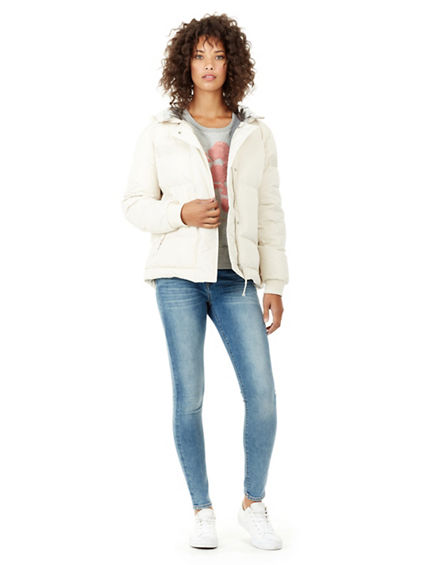 WOMENS QUILTED PUFFER JACKET