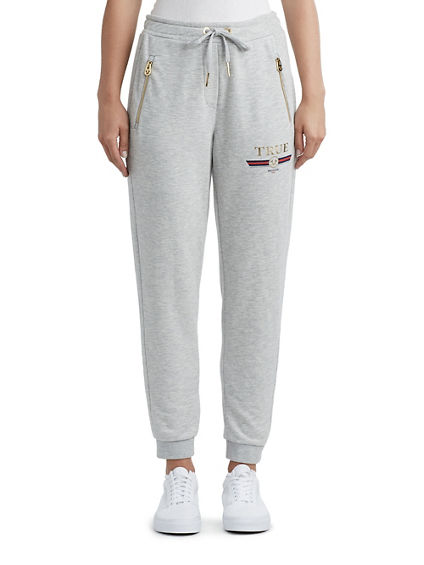 WOMENS METALLIC LOGO JOGGER