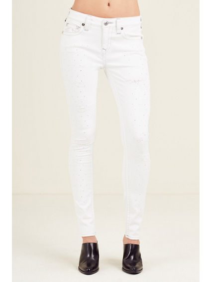 CRYSTAL CURVY SUPER SKINNY WOMENS JEAN